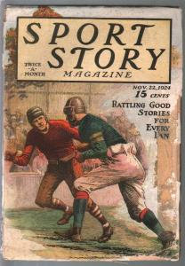 Sport Story 11/22/1925-football cover-air races-baseball-Octavus Ray Cohen-FR