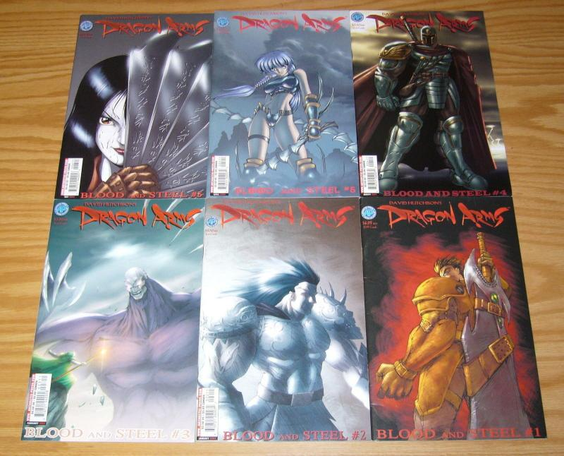 David Hutchison's Dragon Arms: Blood and Steel #1-6 VF/NM complete series manga