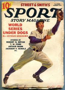 Sport Story Magazine Pulp November 1 1937- World Series Underdogs vg/f