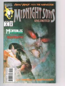 Midnight Sons Unlimited(1993) #2 Marvel Comic BookMorbius Blade Ghost Rider HH2