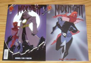 Midknight #1-2 VF/NM complete series - red 5 comics set lot - super hero knight