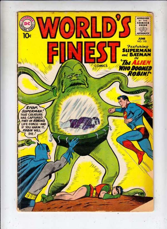World's Finest #110 (Jun-60) GD/VG Affordable-Grade Superman, Batman, Robin