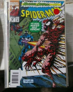 SPIDER-MAN # 36  MARVEL 1993  MAXIMUM CARNAGE PT 8 VENOM  VS CARNAGE