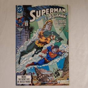 Superman 63 Very Fine  Art by Dan Jurgens