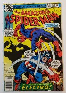 Amazing Spider-Man #187 Marvel Comics 1978 Electro, Captain America  VF