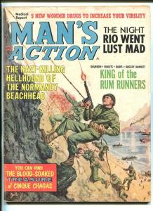 MAN'S ACTION-FEB 1965-NORMANDY INVASION-VIC MARTIN-1ST INFANTRY DIVSION-vg