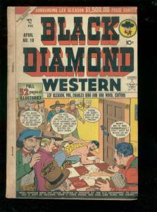 BLACK DIAMOND WESTERN #10-1949-2ND ISSUE-MASKED HERO VG