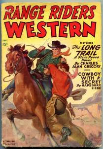 Range Riders Western Pulp September 1949- Steve Reese- Rozen cover G