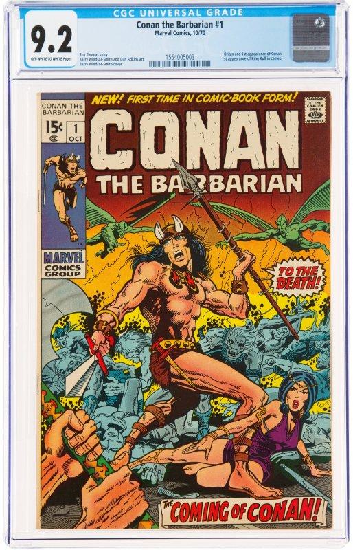 Conan the Barbarian #1 (1970) CGC Graded 9.2