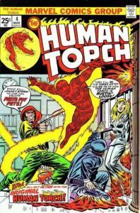 Human Torch (1974 series) #4, VF+ (Stock photo)