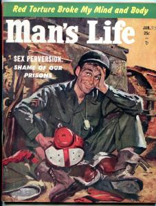 Man's Life Magazine #2 January 1953-Dallas Texans- Shame of our Prisons VF