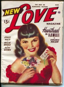 New Love 3/1949-female pulp authors-pin-up girl cover art-FN