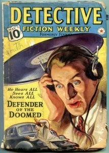 Detective Fiction Weekly Pulp May 7 1938- Defender of the Doomed G