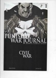 PUNISHER WAR JOURNAL #1, NM-, Frank Castle, 2007, Marvel, B / W Variant