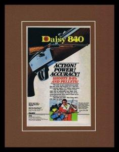 1979 Daisy 840 BB Framed 11x14 ORIGINAL Vintage Advertisement