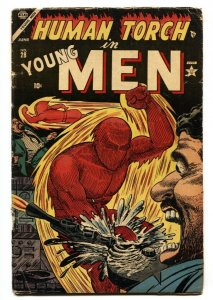 Young Men #28 Atlas 1954-RARE Last issue-Captain America-Human Torch-