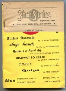 Short Stories Pulp September 1956- Atilla's Assassin- Wodehouse