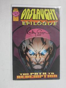 Onslaught Epilogue #1, 6.0 (1997) Signed B4 : Randy Green (Art)