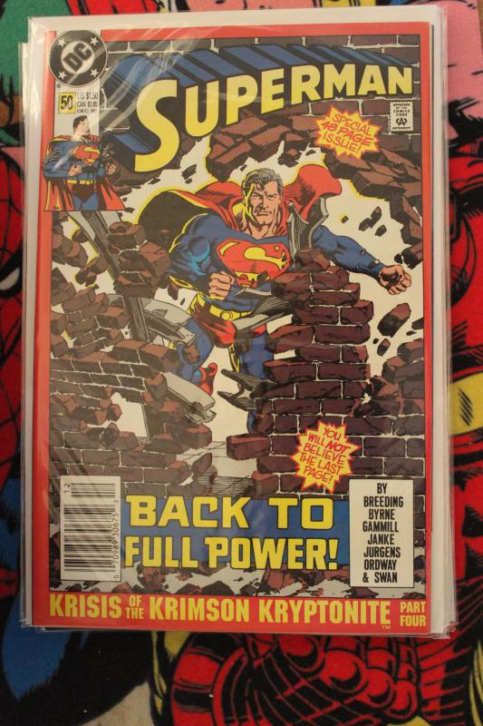 Superman 50 2nd print NM