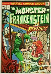 FRANKENSTEIN MONSTER#3 FN/VF 1973 MARVEL BRONZE AGE COMICS