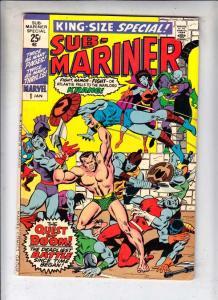 Sub-Mariner King-Size Special #1 (Jan-71) VF/NM- High-Grade Sub-Mariner (Prin...