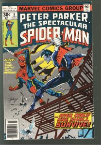 PETER PARKER SPECTACULAR SPIDERMAN 8 FVF EARLY MORBIUS;CLASSIC COVER!