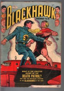 BLACKHAWK #46-1951-QUALITY-DEATH PATROL-REED CRANDALL-VG minus VG-