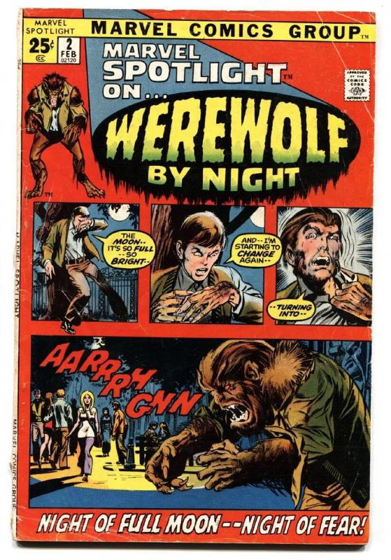 Marvel Spotlight #2 comic book First Werewolf By Night Neal Adams