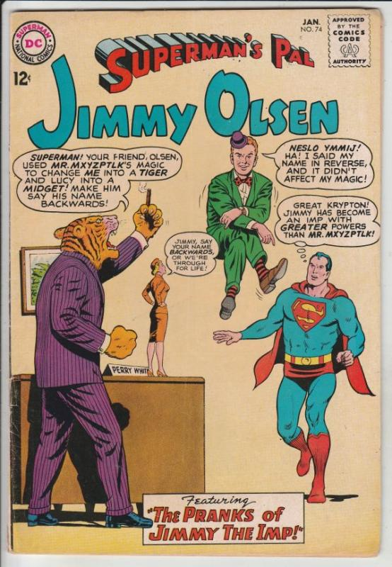 Superman's Pal Jimmy Olsen #74 (Jan-64) VG+ Affordable-Grade Jimmy Olsen