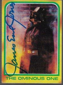 1980 Topps Star Wars: The Empire Strikes Back  #318 - Signed James Earl Jones