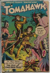 Tomahawk #28 1954-DC-Red Coats-Indian fight cover-1st Lord Shilling appearance-G
