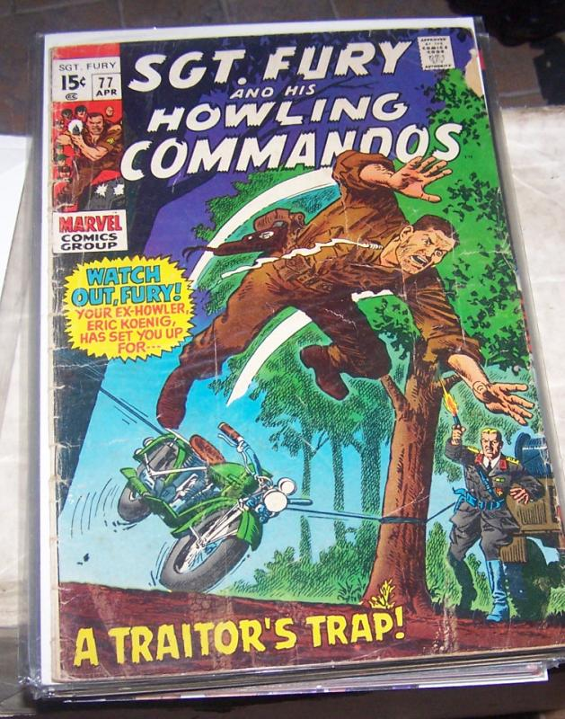 sgt fury and his howling commandos # 77  1970 marvel nick fury war