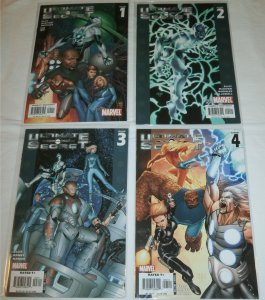 Ultimate Secret #1-4 (complete set) Captain Marvel, Fantastic Four,Ellis/McNiven