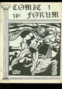 COMIC FORUM FANZINE #5 1969-EARL BLAIR DR STRANGE COVER G