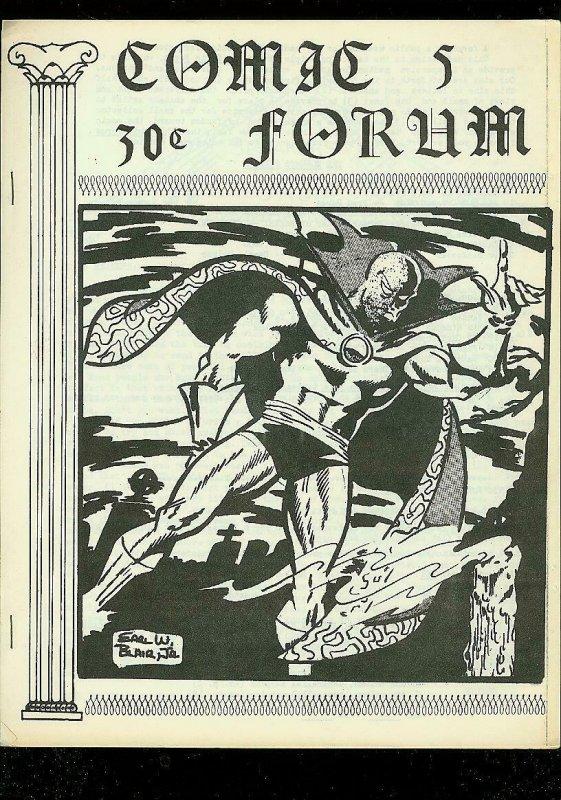 COMIC FORUM FANZINE #5 1969-EARL BLAIR DR STRANGE COVER G