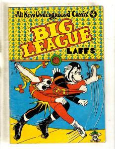 Big League Laffs # 4 1st Print FN Undrground Comix Comic Book Last Gasp FM6