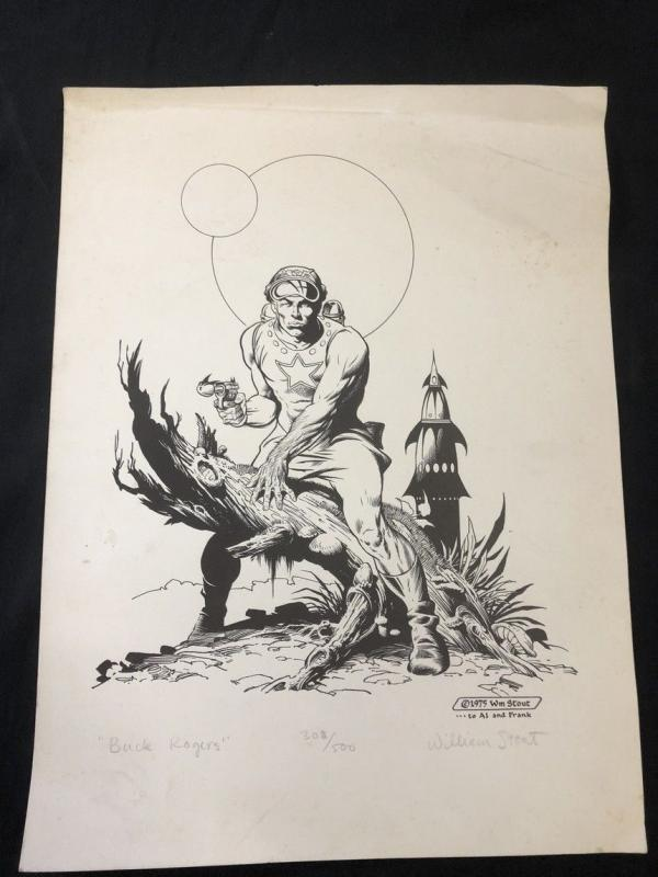Buck Rogers by William Stout Print signed & numbered 308/500 1975