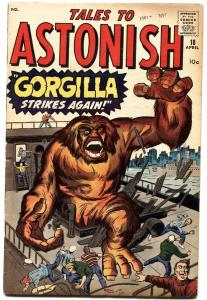 TALES TO ASTONISH #18-1961-MARVEL-KIRBY-DITKO-HORROR ART-FN+