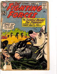 Our Fighting Forces # 67 GD DC Comic Book Gunner & Sarge Silver Age J207