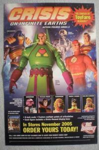 CRISIS ON INFINITE EARTHS Promo Poster, 11x17, Unused,  Flash