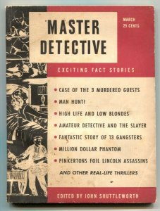 Master Detective March 1951- Pinkertons- Lincoln Assassins