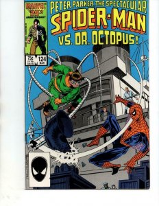 SPECTACULAR SPIDER-MAN #124, VF/NM, Dr Octopus, 1976 1987, more in store