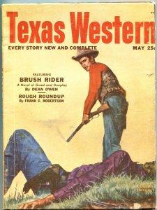 TEXAS WESTERN #3--MAY 1952--THRILLING PULP--DEAN OWEN-FRANK C ROBERTSON