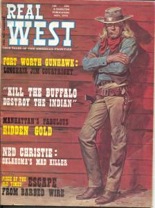 Real West 11/1970-Charlton-Longhair Jim Courtwright-Billy the Kid-VG/FN