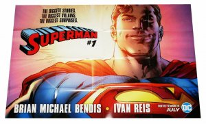 Superman #1 Brian Michael Bendis Folded Promo Poster (36 x 24) - New!