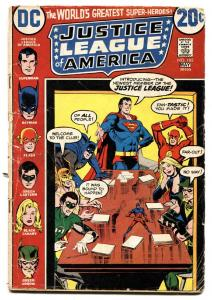 JUSTICE LEAGUE OF AMERICA #105-Elongated Man joins team-Comic Book 1973