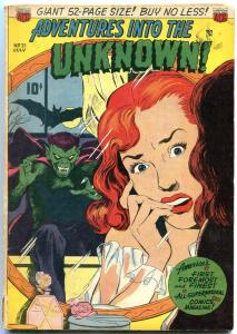 ADVENTURES INTO THE UNKNOWN #21-VAMPIRE COVER-ZOMBIES- FN-