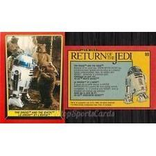 1983 Topps RETURN OF THE JEDI - THE DROID AND THE EWOK #90