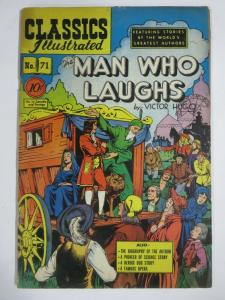 CLASSIC ILLUSTRATED #71 (G) THE MAN WHO LAUGHS (1ST Edition, HRO=71) May 1950