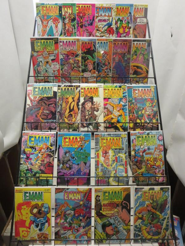 E-MAN (1983 FS) 1-25! COMPLETE!  X-MEN PARODY! B&B